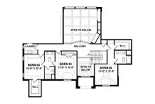European Floor Plan - Upper Floor Plan Plan #1057-3