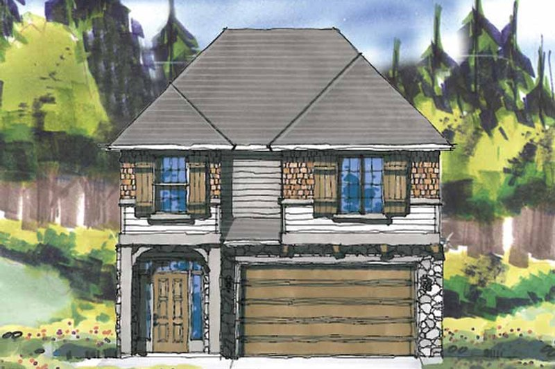 Prairie Exterior - Front Elevation Plan #509-299