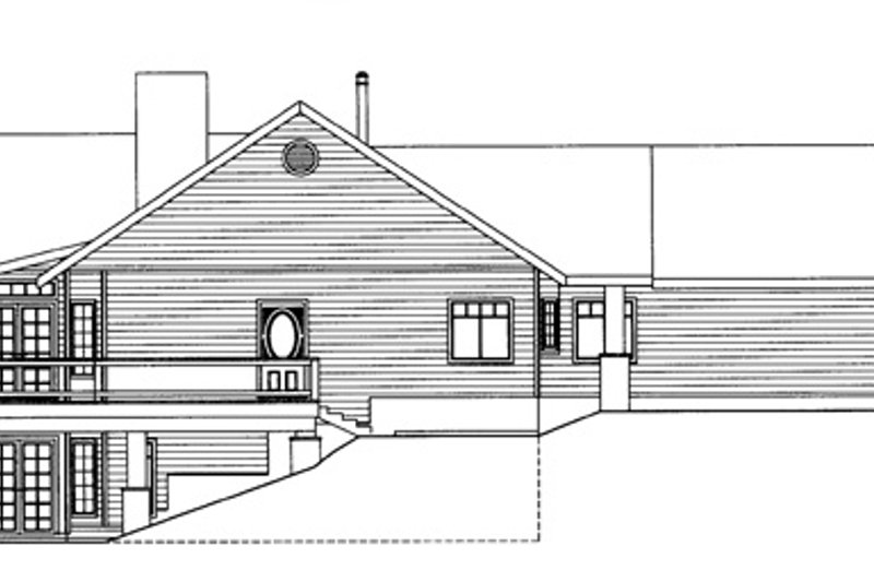 Ranch Exterior - Other Elevation Plan #117-840 - Houseplans.com