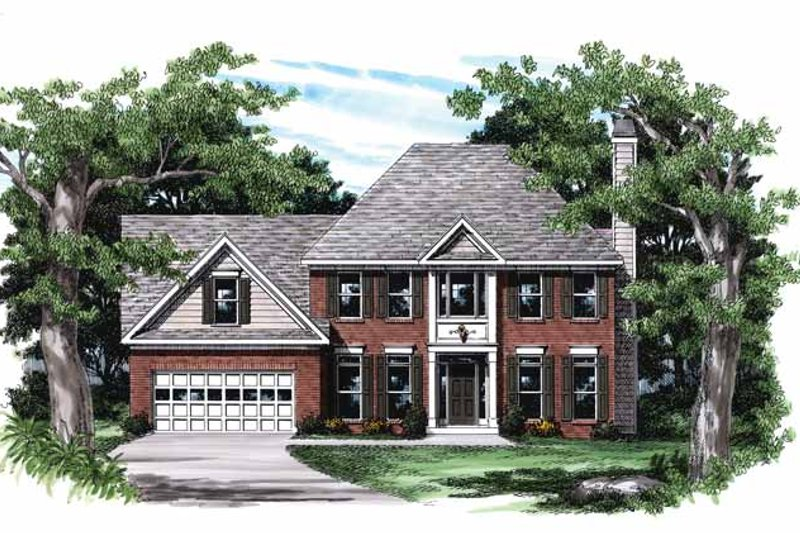 Colonial Exterior - Front Elevation Plan #927-123