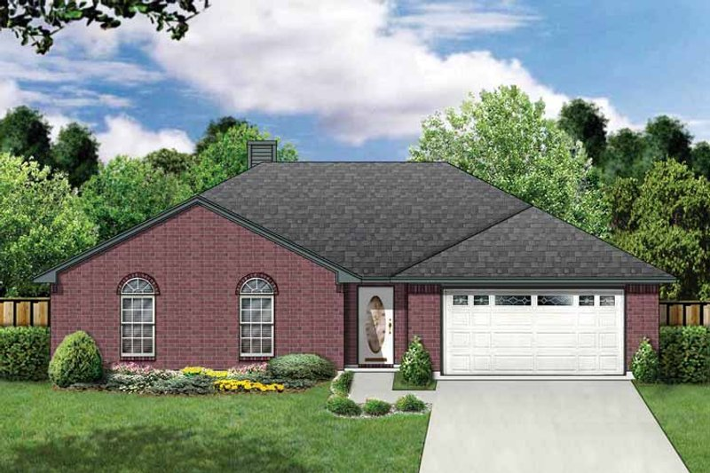 Ranch Exterior - Front Elevation Plan #84-663