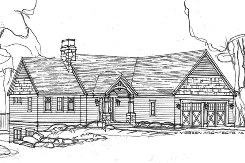 Ranch Exterior - Front Elevation Plan #928-283