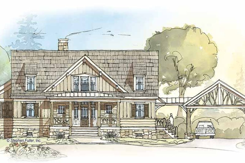 Country Exterior - Front Elevation Plan #429-350