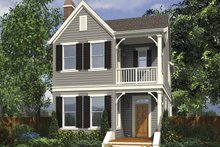 Contemporary Exterior - Front Elevation Plan #48-868