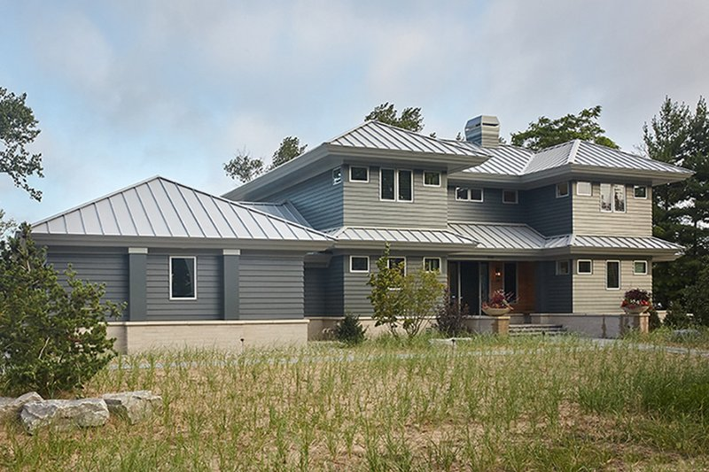 Contemporary Exterior - Front Elevation Plan #928-291 - Houseplans.com