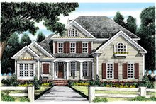 House Design - Country Exterior - Front Elevation Plan #927-885