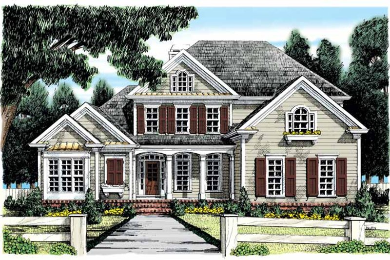 Country Exterior - Front Elevation Plan #927-885