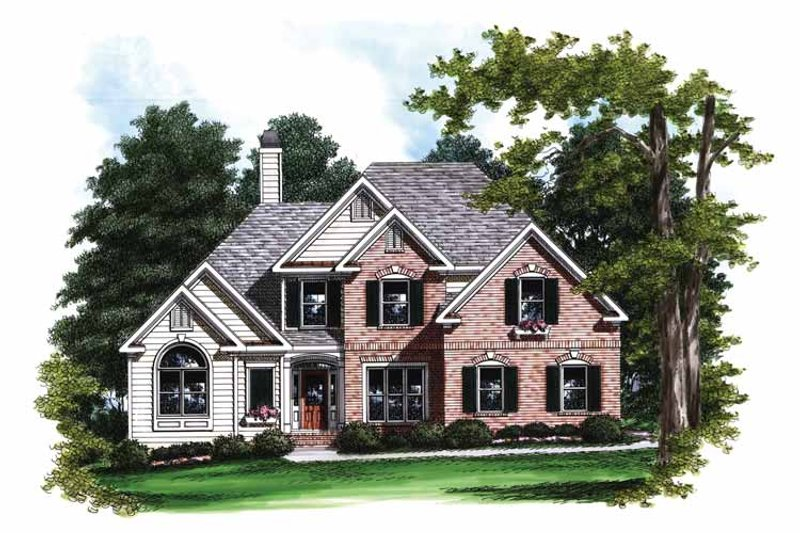 Traditional Exterior - Front Elevation Plan #927-701 - Houseplans.com
