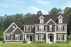 Dream House Plan - Colonial Exterior - Front Elevation Plan #1010-175