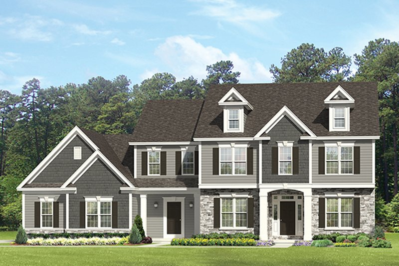 Architectural House Design - Colonial Exterior - Front Elevation Plan #1010-175