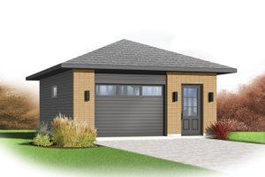 Dream House Plan - Contemporary Exterior - Front Elevation Plan #23-2563