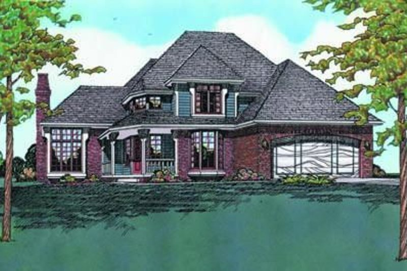 Traditional Exterior - Front Elevation Plan #20-803