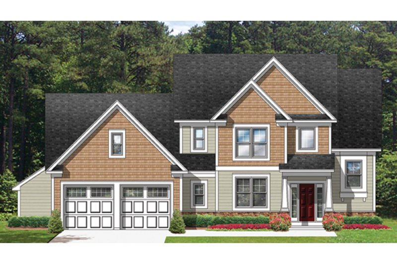 Colonial Exterior - Front Elevation Plan #1010-52