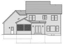 House Design - Traditional Exterior - Rear Elevation Plan #1010-118