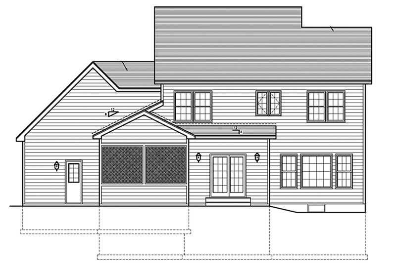 Traditional Exterior - Rear Elevation Plan #1010-118 - Houseplans.com