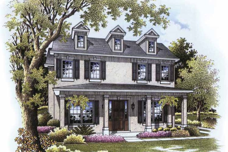 Country Exterior - Front Elevation Plan #999-172 - Houseplans.com