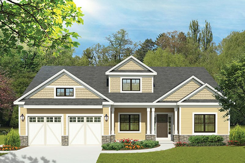 Architectural House Design - Country Exterior - Front Elevation Plan #1010-153