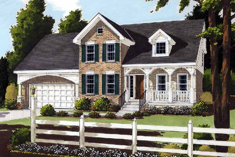 Country Exterior - Front Elevation Plan #46-641