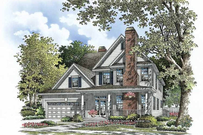 Traditional Exterior - Front Elevation Plan #929-787 - Houseplans.com