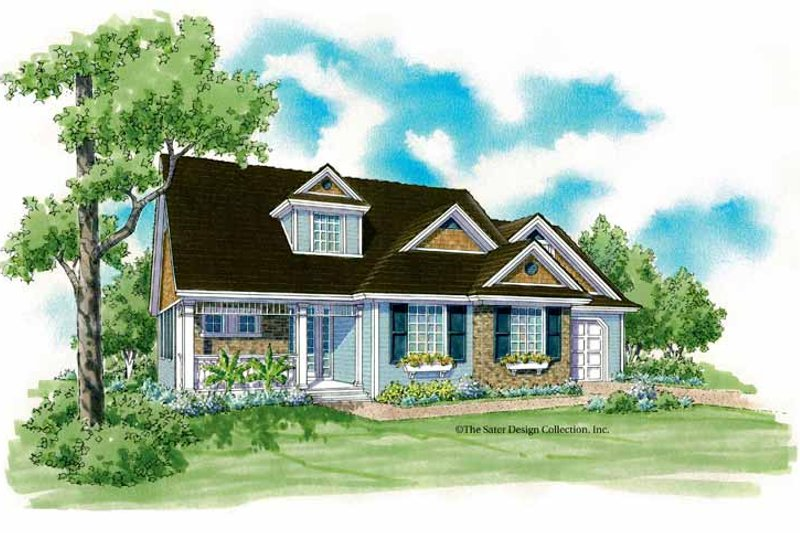 Country Exterior - Front Elevation Plan #930-249