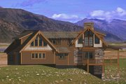 Craftsman Style House Plan - 4 Beds 4.5 Baths 4339 Sq/Ft Plan #908-1 Exterior - Other Elevation