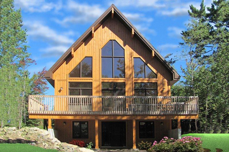 House Plan Design - Cottage Exterior - Rear Elevation Plan #23-670