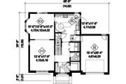 European Style House Plan - 3 Beds 2 Baths 1927 Sq/Ft Plan #25-4720 Floor Plan - Main Floor Plan