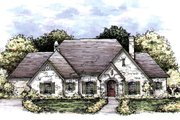 European Style House Plan - 3 Beds 2.5 Baths 3292 Sq/Ft Plan #141-344 Exterior - Front Elevation