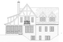 Tudor Exterior - Rear Elevation Plan #901-141