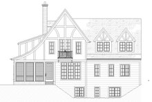 Tudor Exterior - Rear Elevation Plan #901-141