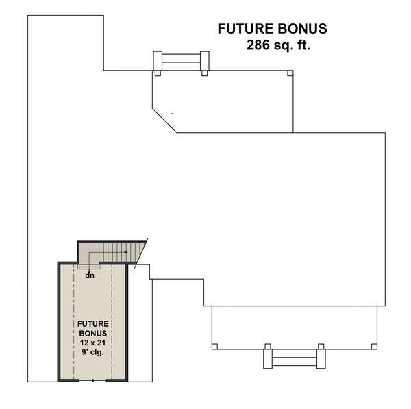 Farmhouse Floor Plan - Upper Floor Plan #51-1141