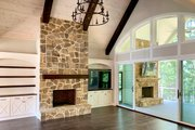 Craftsman Style House Plan - 4 Beds 4 Baths 3869 Sq/Ft Plan #437-104