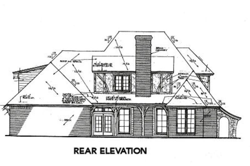 Tudor Exterior - Rear Elevation Plan #310-653 - Houseplans.com