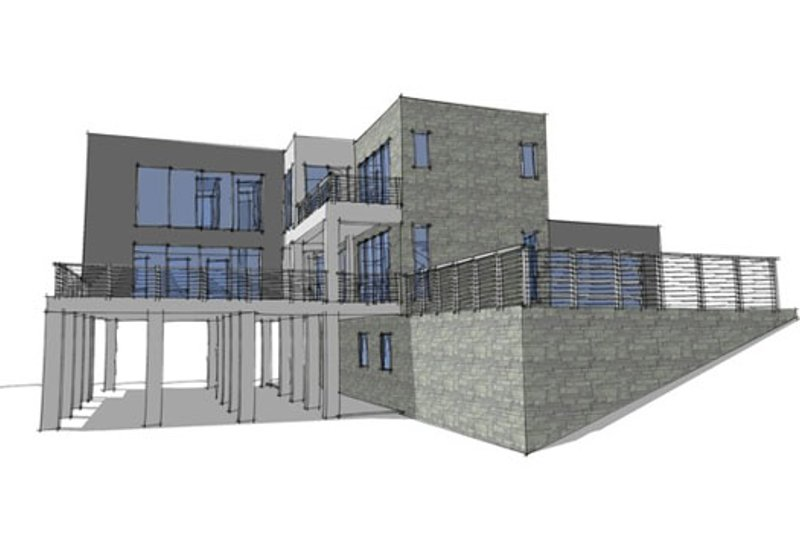 Modern Exterior - Other Elevation Plan #64-196 - Houseplans.com