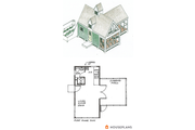 Cottage Style House Plan - 1 Beds 1 Baths 213 Sq/Ft Plan #510-1 Floor Plan - Other Floor