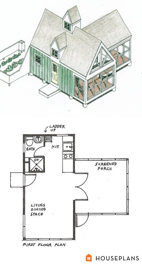 tiny panelized cottage 200sft Lester Walker