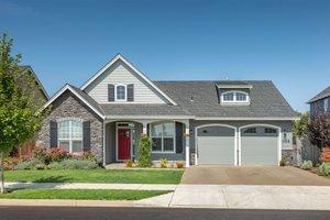 Cottage Exterior - Front Elevation Plan #48-102