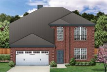 Dream House Plan - Traditional Exterior - Front Elevation Plan #84-374