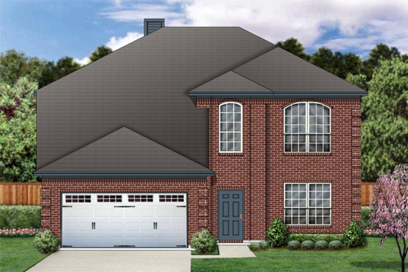 Home Plan - Traditional Exterior - Front Elevation Plan #84-374