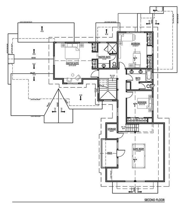 Craftsman Floor Plan - Upper Floor Plan #899-2
