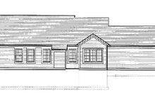 Dream House Plan - Traditional Exterior - Rear Elevation Plan #46-366