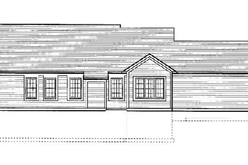 Traditional Exterior - Rear Elevation Plan #46-366 - Houseplans.com