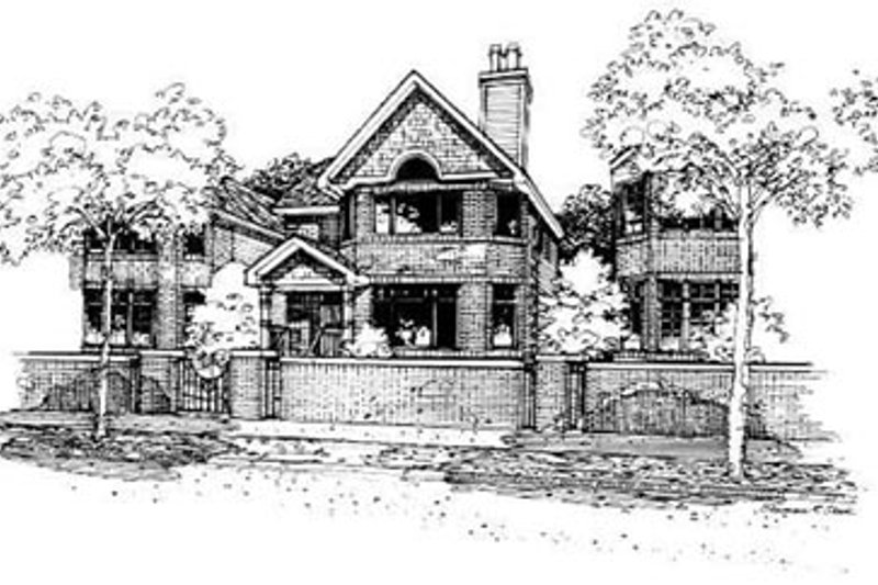 Traditional Style House Plan - 3 Beds 2.5 Baths 2018 Sq/Ft Plan #50-224 Exterior - Front Elevation