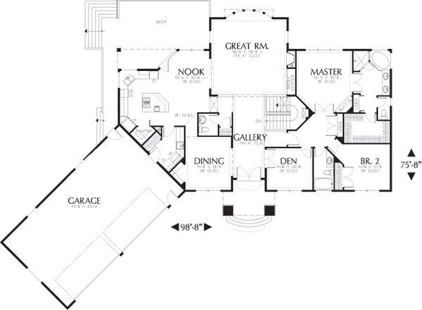 Dream House Plan - Floor Plan - Main Floor Plan #48-604