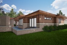 Architectural House Design - Contemporary Exterior - Rear Elevation Plan #923-152