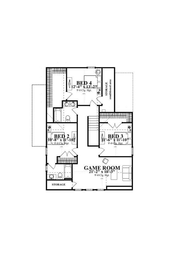 Farmhouse Floor Plan - Other Floor Plan Plan #63-376