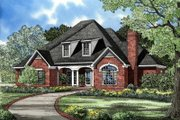 European Style House Plan - 5 Beds 5.5 Baths 3370 Sq/Ft Plan #17-228 Exterior - Front Elevation
