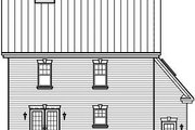Colonial Style House Plan - 3 Beds 2.5 Baths 1722 Sq/Ft Plan #23-839 Exterior - Rear Elevation