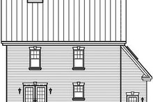 Colonial Exterior - Rear Elevation Plan #23-839