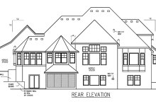 Dream House Plan - European Exterior - Rear Elevation Plan #56-591